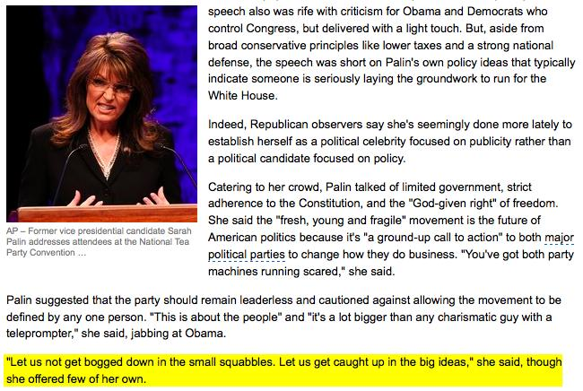 AP Runs Palin Tea Party Hit Piece