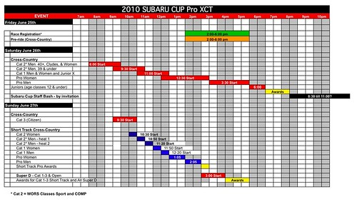 SubaruCup Final Compromise Schedule