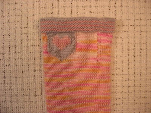 Intarsia heart and seamless turn