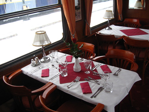 European heritage train for hire / charters - restaurant car