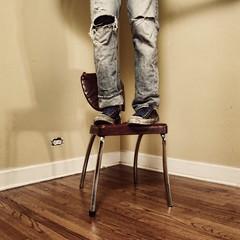 """All progress is precarious,"" (chris johnson.) Tags: corner self chair ripped converse outlet chucks broke precarious"