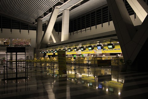 马尼拉机场3楼checkin大厅