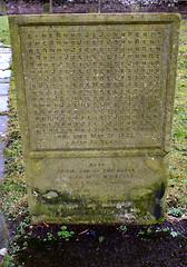 Remembered.. In Puzzle Form! (Canis Major) Tags: wales tombstone puzzle acrostic gravestone monmouth remembered johnrenie wordgrid