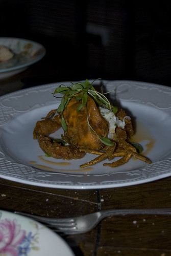 bistro vue_soft shell crab with celeriac and apple remoulade and mojo sauce