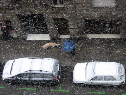 Nieve en Barcelona
