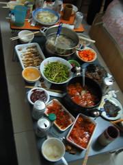韓菜之夜。korea cuisine (vickie abby) Tags: beijing 北京 canonixus400 bict 北京服裝學院 vickieabby