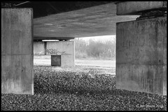 another bridge (Jon Downs) Tags: bw white black art digital canon downs landscape eos photo jon flickr artist image picture pic photograph 7d stony milton keynes stratford jondowns