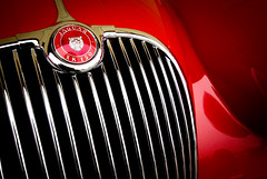 XK 150 (bOw_phOto) Tags: red classic vintage pentax chrome jaguar grille dslr xk150 sigma1020 k200d lightroom3 justpentax pentaxart
