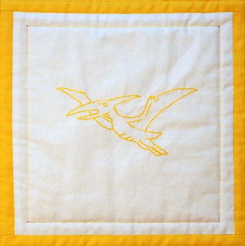 yellow pteranodon