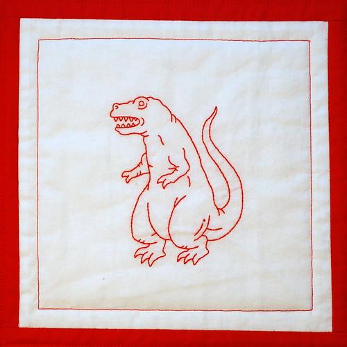 red tyrannosaurus rex