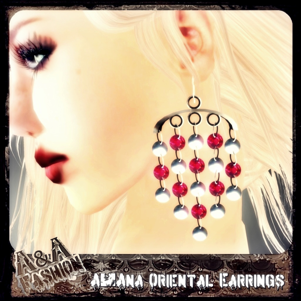 A&Ana Oriental Ruby Earrings