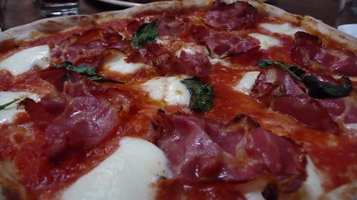 Buffalo e capocollo pizza at Saraghina