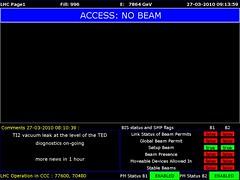 LHC1 2010/03/27 08:14:00 (LHC logs) Tags: tree cakes tooth energy large logs beam cern physics op clive lhc accelerator proton higgs collider lhc1 clivetooth hadron vistars lhc3 treecakes