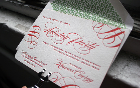 Custom Letterpress Holiday Card by Smock