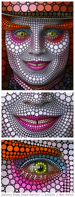 Details - Johnny Depp - Mad Hatter by Ben Heine