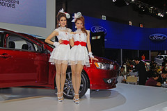 Mitsubishi models at the 31st Bangkok Motorshow (UweBKK ( 77 on )) Tags: show girls woman hot cute sexy girl car fashion asian thailand model women asia bangkok sony transport models fair exhibition transportation convention vehicle motor southeast alpha dslr mitsubishi 31st motorshow 550