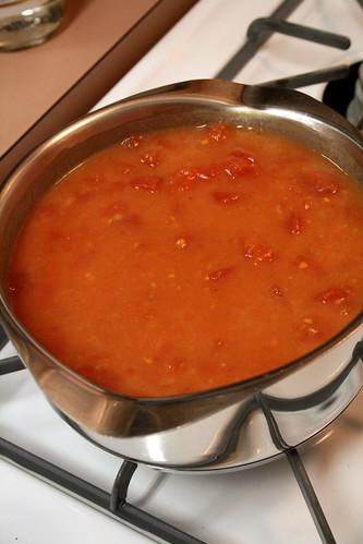 Tomato-Orange sauce.