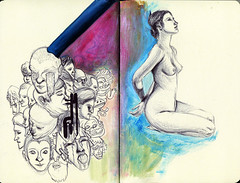 moleskine fourteen (fill on) Tags: moleskine beard tears acrylic faces davidcross ballpointpen pattonoswalt nudemodel