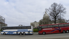 Tea Party Express buses at the Minnesota capitol