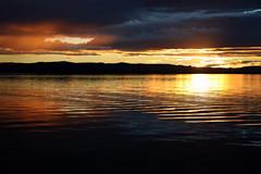 evening light at lake macquarie (ducktourer) Tags: sunset colour water canon reflections landscape eos evening glow sundown dusk australia nsw centralcoast waterway lakemacquarie wetreflections coastallake ducktourer markhodges wildtrekphotography