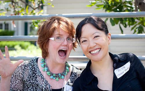 "Libba Bray and Rita Crayon Huang (me) at SCBWI-LA Writer""s Day"