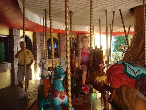 Gab on carousel at GKTW