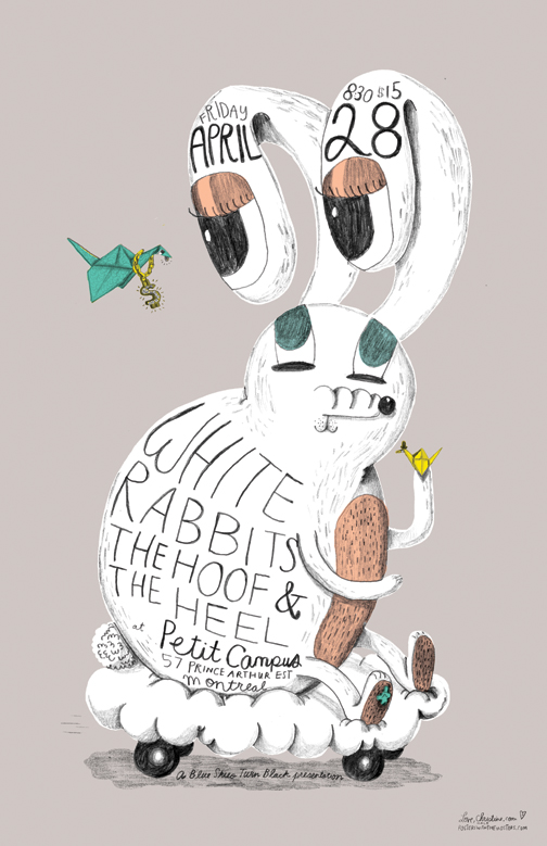 WHITE RABBITS and THE HOOF AND THE HEEL POSTER
