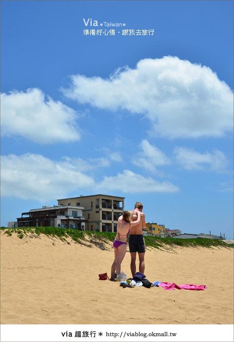 【澎湖沙灘】山水沙灘,遇到菊島的夢幻海灘!21