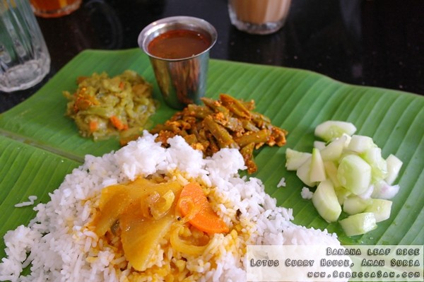 Banana leaf rice- Lotus Curry House, Aman Suria-02