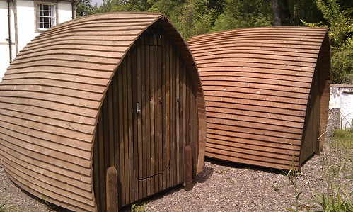 I so want to replace the shed with one of these - think It's a camping pod.