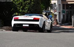 Lamborghini LP560-4 Spider (Maxim Veraart) Tags: white paris de hotel spider nikon casino monaco lp maxim carlo monte wit lamborghini vr 70300 d90 5604 veraart