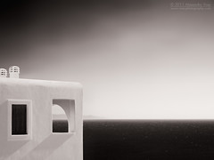 Aegean horizon (Berlinalex) Tags: ocean travel sea summer sky blackandwhite bw white building tourism window nature water architecture landscape geotagged island greek meer mediterranean fenster traditional horizon natur aegean himmel olympus greece grecia architektur sw schwarzweiss griechenland landschaft weiss andros horizont cyclades grece mittelmeer e510 batsi  kykladen gis