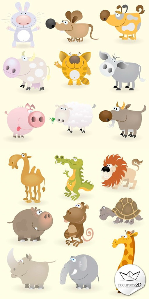 Set de Animales estilo cartoon - Vector (EPS)