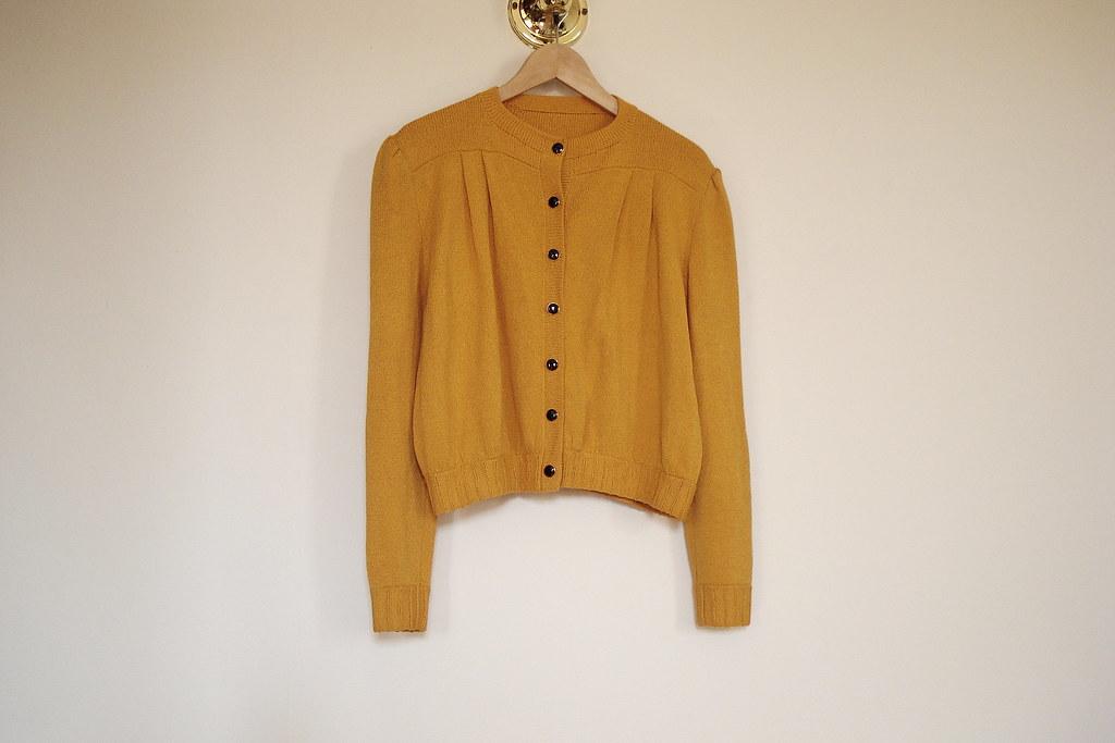 vintage mustard cardigan
