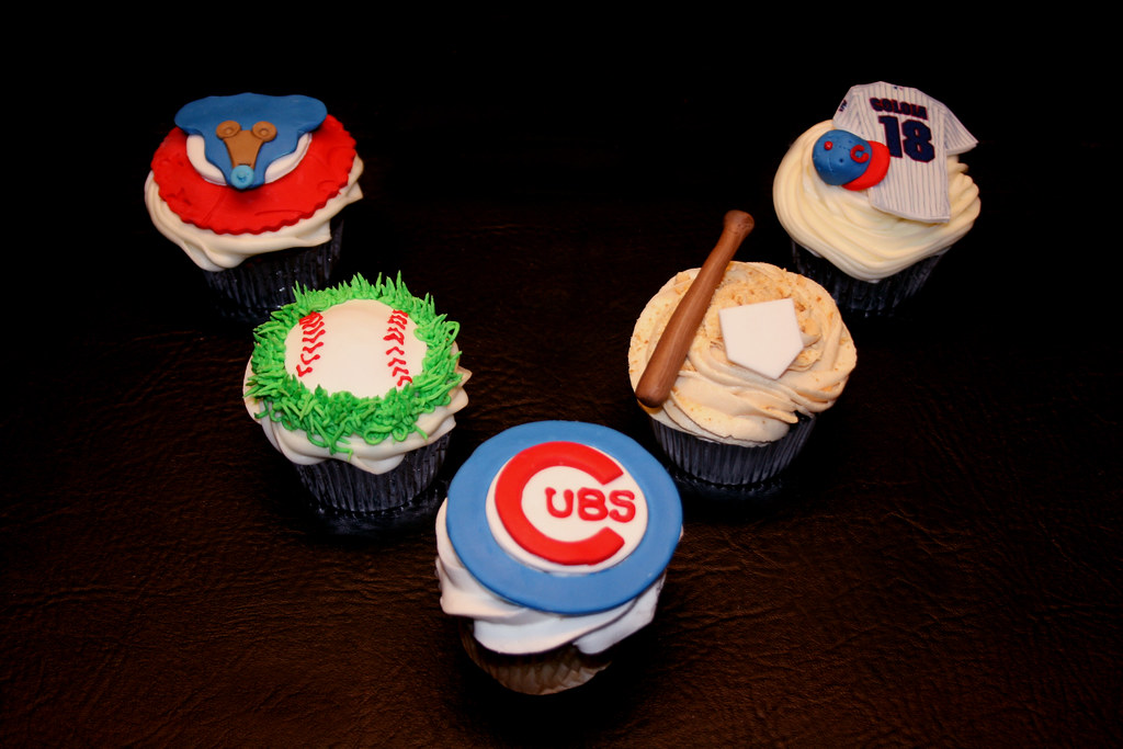 Chicago Cubs Baby Shower Cupcakes