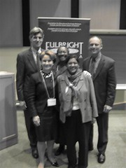 """Penny with Canadian and American colleagues at UOttawa's forum on Water and Human Rights • <a style=""""font-size:0.8em;"""" href=""""http://www.flickr.com/photos/21584185@N07/4029114737/"""" target=""""_blank"""">View on Flickr</a>"""