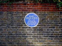 Photo of Mary Hughes blue plaque