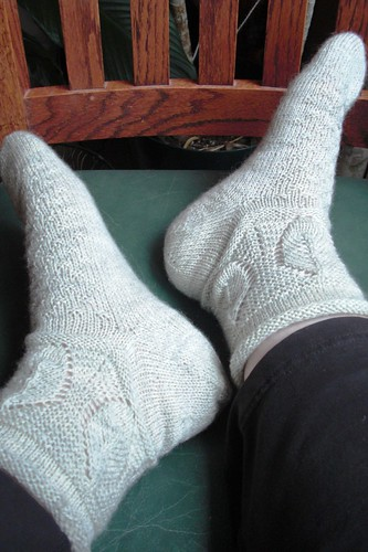 Lemon Leaves socks done-5