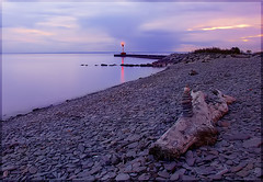 Oakville Lighthouse (fadi3) Tags: sunset lighthouse toronto ontario canada beach d50 geotagged nikon stones nikond50 2009 oakville fadi3