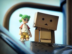Long Way Down (willycoolpics.) Tags: park scary lol gimp slide picnik yotsuba danbo revoltech danboard