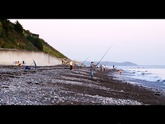 Seaton Fishing on the Beach. (diavolo_felice) Tags: sea beach fishing cornwall candid beachfishing 2009 seaton