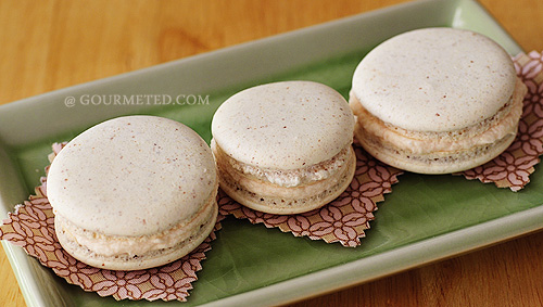 Macarons with Lemon-Rose Water Buttercream