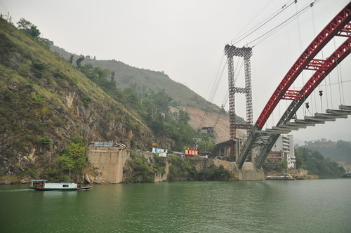 Old and new bridge in Wushan