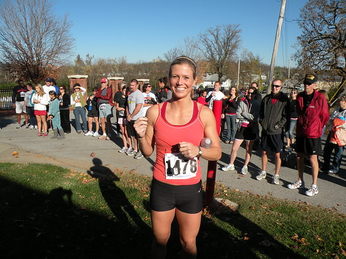 Rendy Williams of Hot Springs, Arkansas, wins women's division of the Veterans Memorial 5K on November 7, 2009, at the Fayetteville National CemeteryDSCN7210