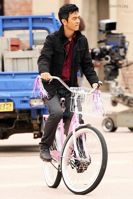 Dimitri en bicicleta