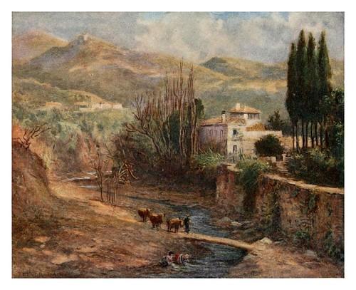 040-Granada-casa de campo en el Darro-Southern Spain 1908- Trevor Haddon