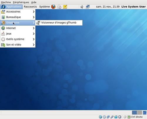 Gimp absent de la version live de la Fedora 12