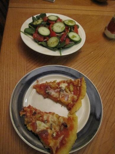 Tuesday Polenta Pizza Dinner