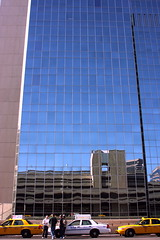 Taxi stand (kevin dooley) Tags: street city arizona urban reflection building glass phoenix st architecture canon mirror downtown 1st taxi parking lot first az taxis line queue vanburen wait 24mm phx f63 taxistand coopersquare 40d