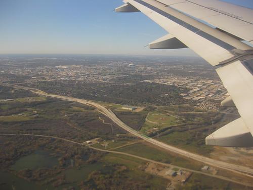 landing at dfw
